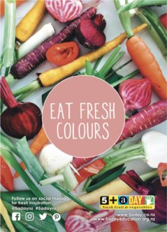 Poster A4 Eat Fresh Colours Baby Vegetables