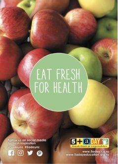 Poster A4 Eat Fresh For Health Apples And Pears