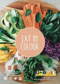 Poster A4 Eat In Colour Platter