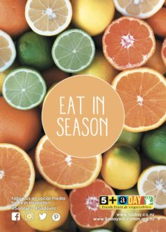 Poster A4 Eat In Season Citrus