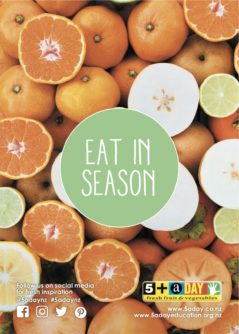 Poster A4 Eat In Season Mandarin And Nashi